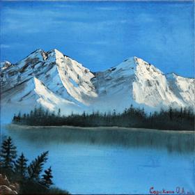Альпы, сорокина ольга, купить картины, горы, масло, холст