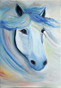 Лошадка, сорокина ольга, масло, холст, купить картину