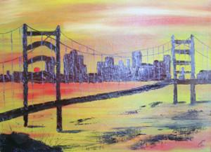 Нью-Йорк, мост, масло, холст, сорокина ольга, купить картину