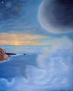 Тишина, космос, рассвет, купить картины, сорокина ольга