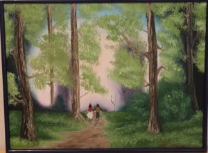 сорокина ольга, купить картину, холст, масло, в лесу, живопись, надежда есть